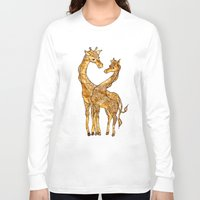 henna Long Sleeve T-shirts featuring Henna Giraffe by Kari D Designs
