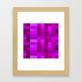 Purple Mosaic Framed Art Print