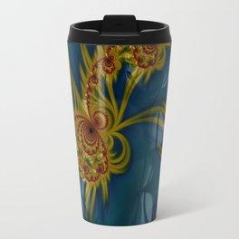 Golden Embroidery Travel Mug