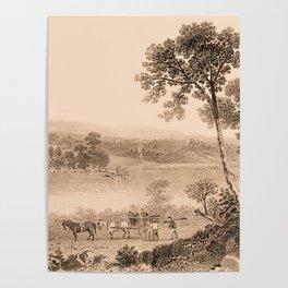 Lake Champlain 1850 (sepia) Poster