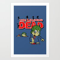 The Lemming Dead Art Print