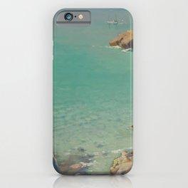 Secret Cove, romantic coastal maritime landscape by Lamorna Birch iPhone Case