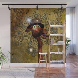 Steampunk, giraffe Wall Mural