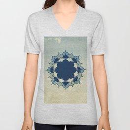 Lotus Mandala Sand Water Wash Unisex V-Neck
