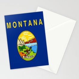 flag of montana,america,usa,big sky,treasure state, montanan,west,Billings,missoula,great falls Stationery Cards