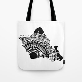 The Island of Oahu [Tribal Illustration] Tote Bag
