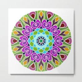 Beautiful colorful abstract mandala Metal Print