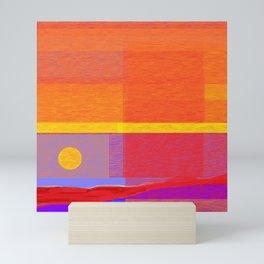Beautiful sunset in Spain Mini Art Print
