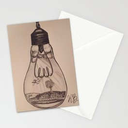 Field Lightbulb Stationery Cards
