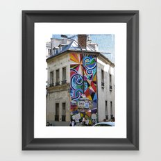Something about the color Framed Art Print