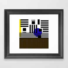 stripes mesh Framed Art Print