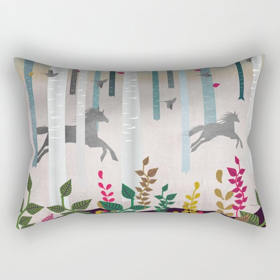 Flying Horses Rectangular Pillow
