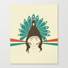 The princess and the peacock Canvas Print