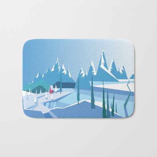 In The Ice Cold North No. 2 Bath Mat