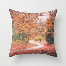 New York City Autumn in Brooklyn Throw Pillow