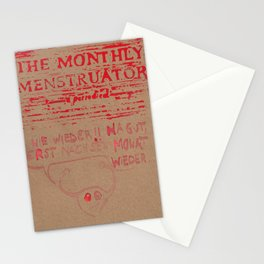THE MONTHLY MENSTRUATOR - a periodical: nie wieder Stationery Cards