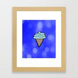 Ice Cream Sign, Ice Cream Print, Ice Cream Cone Art, Wall Art, Society6, Summer, Cute, Tropical, Framed Art Print