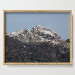 Mountain with Snow Serving Tray