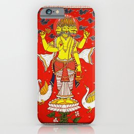 Hindu Lord Brahma 1 iPhone Case