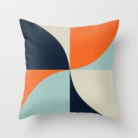 mod Throw Pillows featuring mod petals by her art