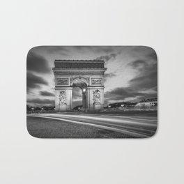 PARIS Arc de Triomphe | monochrome Bath Mat