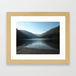 Glendalough Lake Framed Art Print