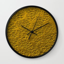 Damaged gold Wall Clock