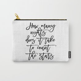 Inspirational Quote One Direction Quote Print Typography Print Quote Printable Art Black And White Carry-All Pouch