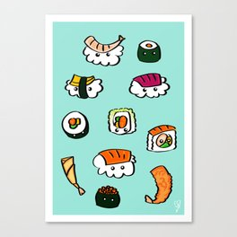 Sushi Cloud Canvas Print