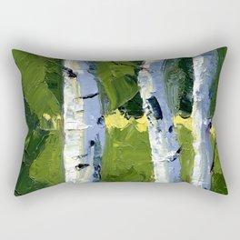 Aspens - Catching the Light Rectangular Pillow