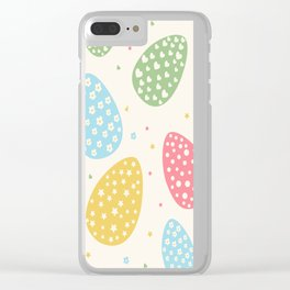 Easter Egg Stars Hearts and Flowers Clear iPhone Case