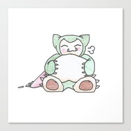Hungry Snorlax (by Ian) Canvas Print