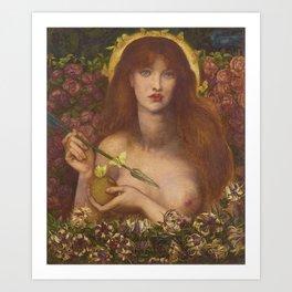 Dante Gabriel Rossetti - Venus Verticordia Art Print