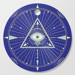 Evil Eye Mandala – Navy Cutting Board