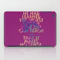 literary iPad Cases featuring Literary Quote Poster — American Pastoral by Philip Roth by Evan Beltran