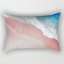 Aerial: Sandy Beach in Vivid Colours Rectangular Pillow