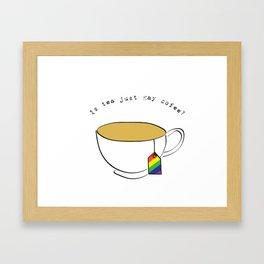 Gay goffee Framed Art Print