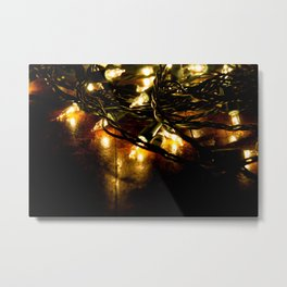 white lights - christmas Metal Print