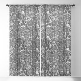 Mystic Occult BW Sheer Curtain
