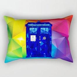 Tardis Abstract Triangle Rectangular Pillow