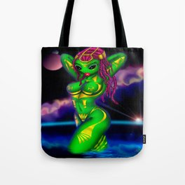 Alien Gone Wild Tote Bag