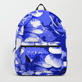 Roses Blue and White Toile #2 Backpack