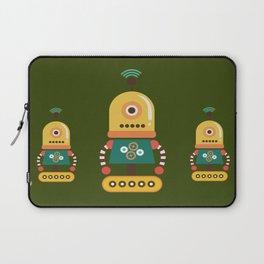 Quirky Retro Robot Toy Laptop Sleeve