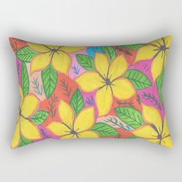 Tropical Plumeria Flowers Rectangular Pillow