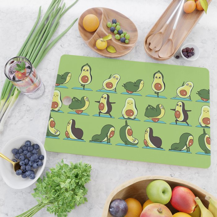 Avocado Yoga Cutting Board