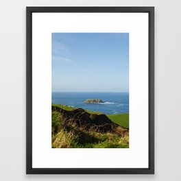 Island in the Distance Framed Art Print