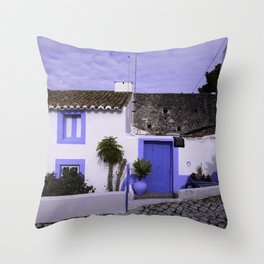 Home in Nazare Throw Pillow
