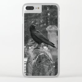 Crow In Shades Of Stone Clear iPhone Case