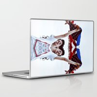 american Laptop & iPad Skins featuring AMERICAN by Paparrazzi666