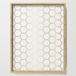 Honeycomb - Gold #170 Serving Tray